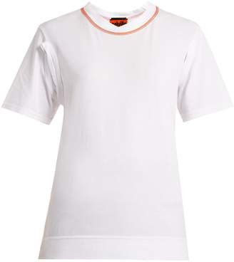 COLVILLE Cut-out cotton jersey T-shirt