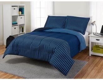 Your Zone Color Block Reversible Comforter Set
