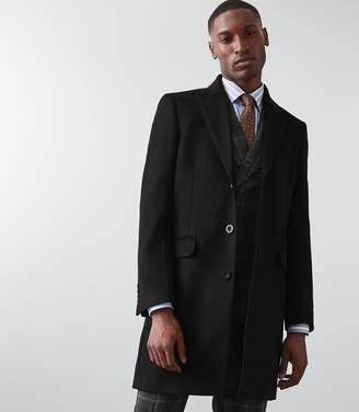 Reiss Maplebeck - Wool Epsom Overcoat in Black