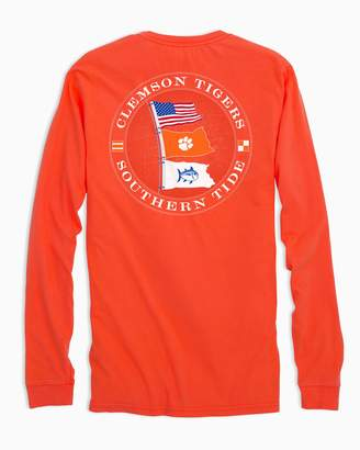 Southern Tide Gameday Nautical Flags Long Sleeve T-shirt - Clemson University