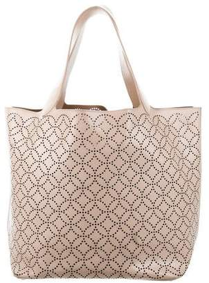 Alaia Leather Laser-Cut Tote