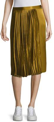 Public School Women's Gamil Silk Pleated Skirt