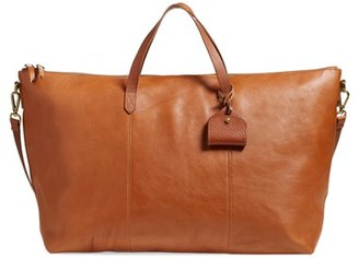 Madewell 'Transport' Weekend Bag - Brown $298 thestylecure.com