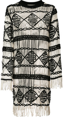 Nicole Miller fringed dress $330 thestylecure.com