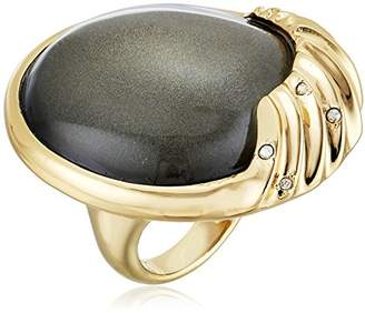 Alexis Bittar Crystal Studded Sculptural Sphere Cocktail Ash Ring