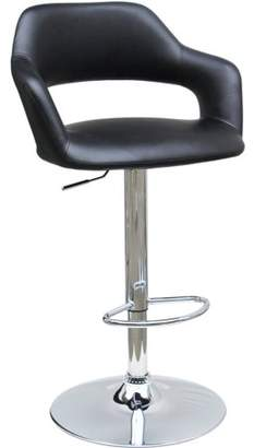 Best Master Furniture Open Back Faux Leather Adjustable Height Bar Stool, Set of 2, Black or White