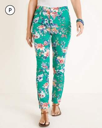 So Slimming Petite Butterfly Garden-Print Ankle Jeans