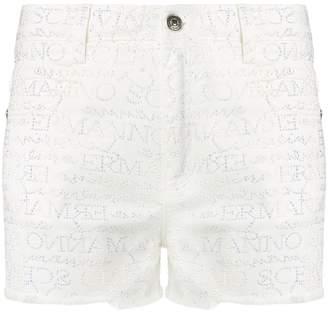 Ermanno Scervino studded logo shorts