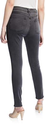 Frame Ali High Rise Skinny Front-Slit Jeans