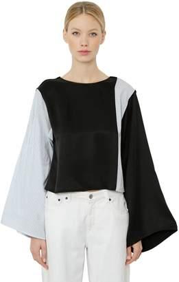 MM6 MAISON MARGIELA Oversize Color Block Cotton Top