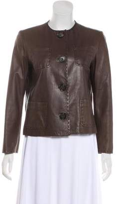 Saks Fifth Avenue Structured Leather Jacket
