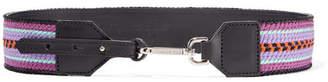 Etro Embroidered Leather Belt - Purple