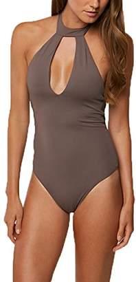O'Neill Women's Salt Water Solids Hi-Neck One Piece Swimsuit