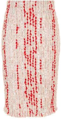 Alexander McQueen Tweed Pencil Skirt