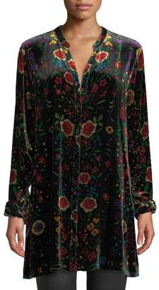 Johnny Was Easy Embroidered Velvet Tunic, Plus Size
