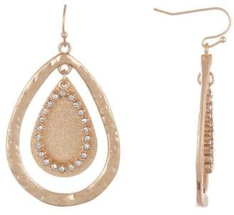 Melrose and Market Pave Teardrop Earrings