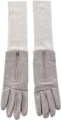Hermes Leather long gloves