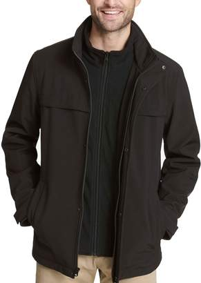 Dockers Men's Jackson Softshell Performance Car Coat with Microfleece Bib