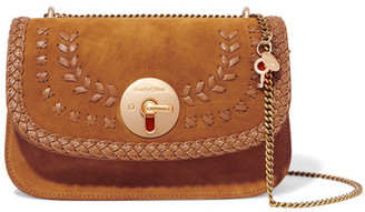 See by Chloé - Lois Suede And Textured-leather Shoulder Bag - Tan $430 thestylecure.com