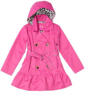 Pink Platinum Girls 4-16 Double Breasted Trench Coat