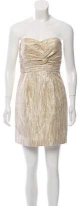 Tibi Metallic Strapless Dress