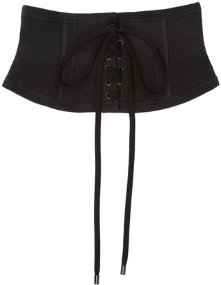 Isabel Marant Black Herese Lace-Up Belt $470 thestylecure.com