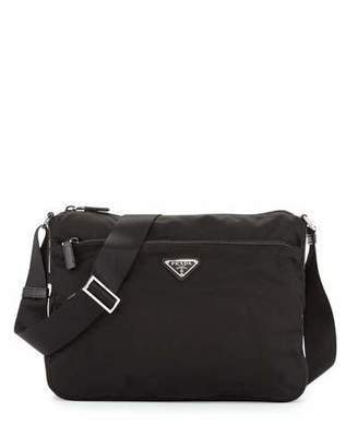 Prada Large Nylon Crossbody Bag, Black (Nero)