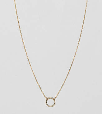 Estella Bartlett gold plated suspended circle necklace