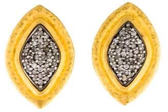 Gurhan 24K Diamond Moonshadow Marquise Earclips