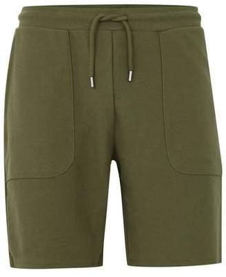 Topman Mens Khaki Twill Jersey Shorts