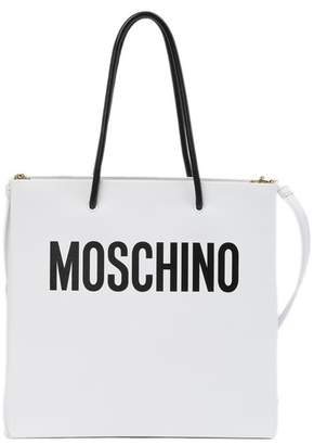 Moschino Logo Leather Shoulder Bag Tote Bag