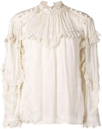 IRO Utopia ruffle trim blouse