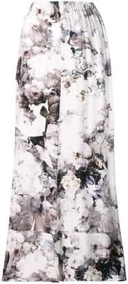 A.F.Vandevorst floral flared maxi skirt
