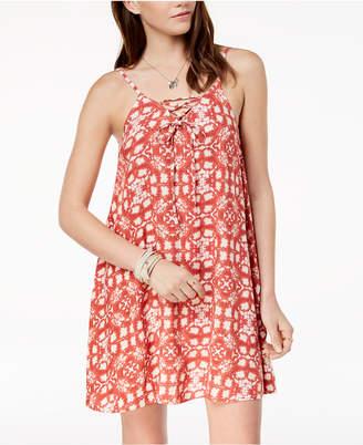 Roxy Juniors' Lace-Up A-Line Dress