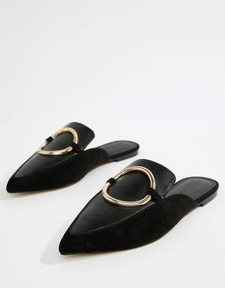 Asos DESIGN Loyalty mule ballet flats