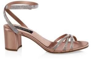 Pedro Garcia Xafira Satin Ankle Strap Sandals