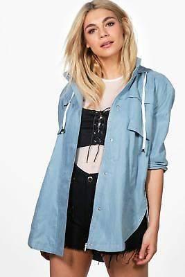 Damen Evie Utility-Jacke in Blau größe S/M