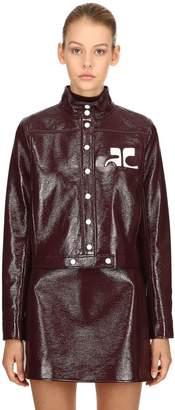 Courreges Logo Wrinkled Vinyl Jacket