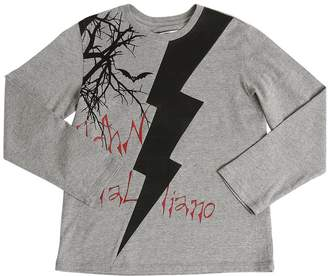 John Galliano Lightning Cotton Jersey T-Shirt