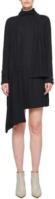 Tibi Modern Drape Shirred Flap Short Dress