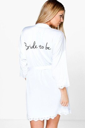 boohoo Bride Slogan Slinky Robe