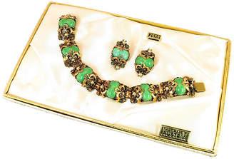 One Kings Lane Vintage Austrian Peking Glass Bracelet Suite