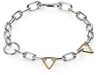 Alexander Wang Mixed Yellow Gold And Rhodium Links Necklace