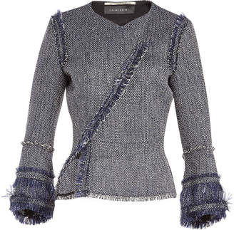Roland Mouret Kirkham Tweed Jacket with Cotton