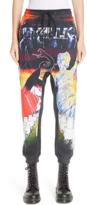 R 13 Lars Metallica Print Sweatpants