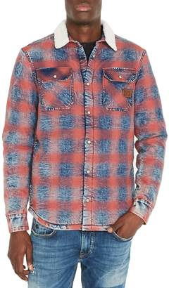 Buffalo David Bitton Plaid Long-Sleeve Denim Shirt