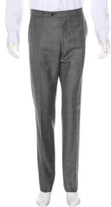 Paul Smith Plaid Wool & Silk Pants