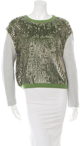 3.1 Phillip Lim Sequinned Wool Sweater