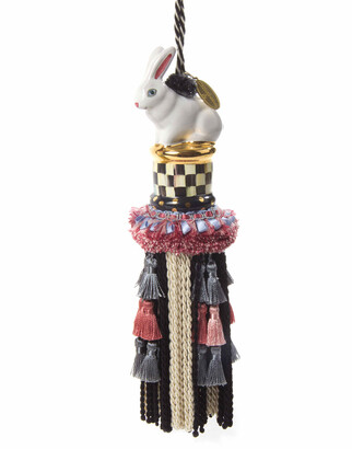 Mackenzie Childs Courtly Check Rabbit Tassel