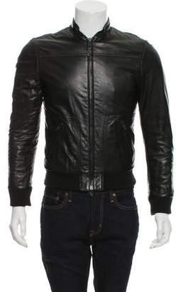 Balenciaga Leather Bomber Jacket